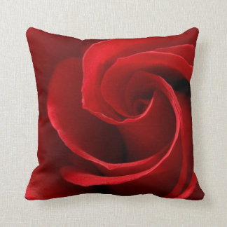 Red Rose Polyester Throw Pillow, Throw Pillow
