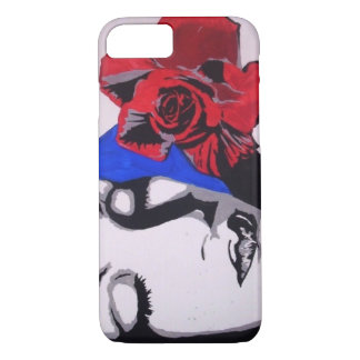 Red Rose Pop! painting on a Cell Phone Case