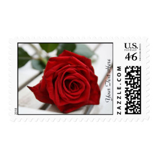 Red Rose Postage Stamp