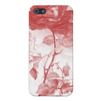 Red Rose Postcard Design Cover For iPhone SE/5/5s