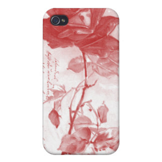 Red Rose Postcard Design iPhone 4/4S Cover