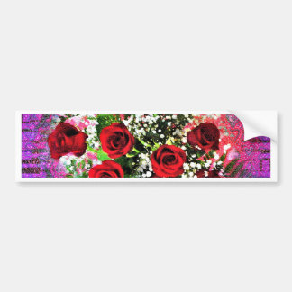 Red Rose Radiance Bumper Sticker