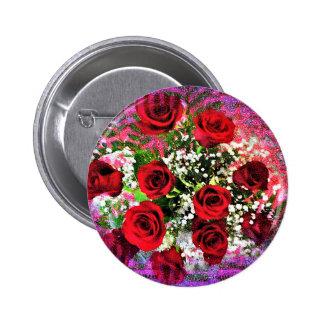 Red Rose Radiance Pins