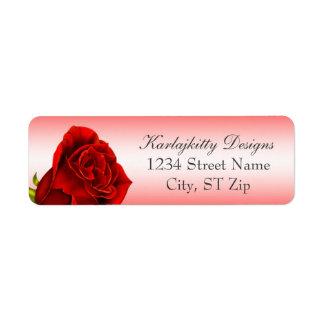 Red Rose Return Labels
