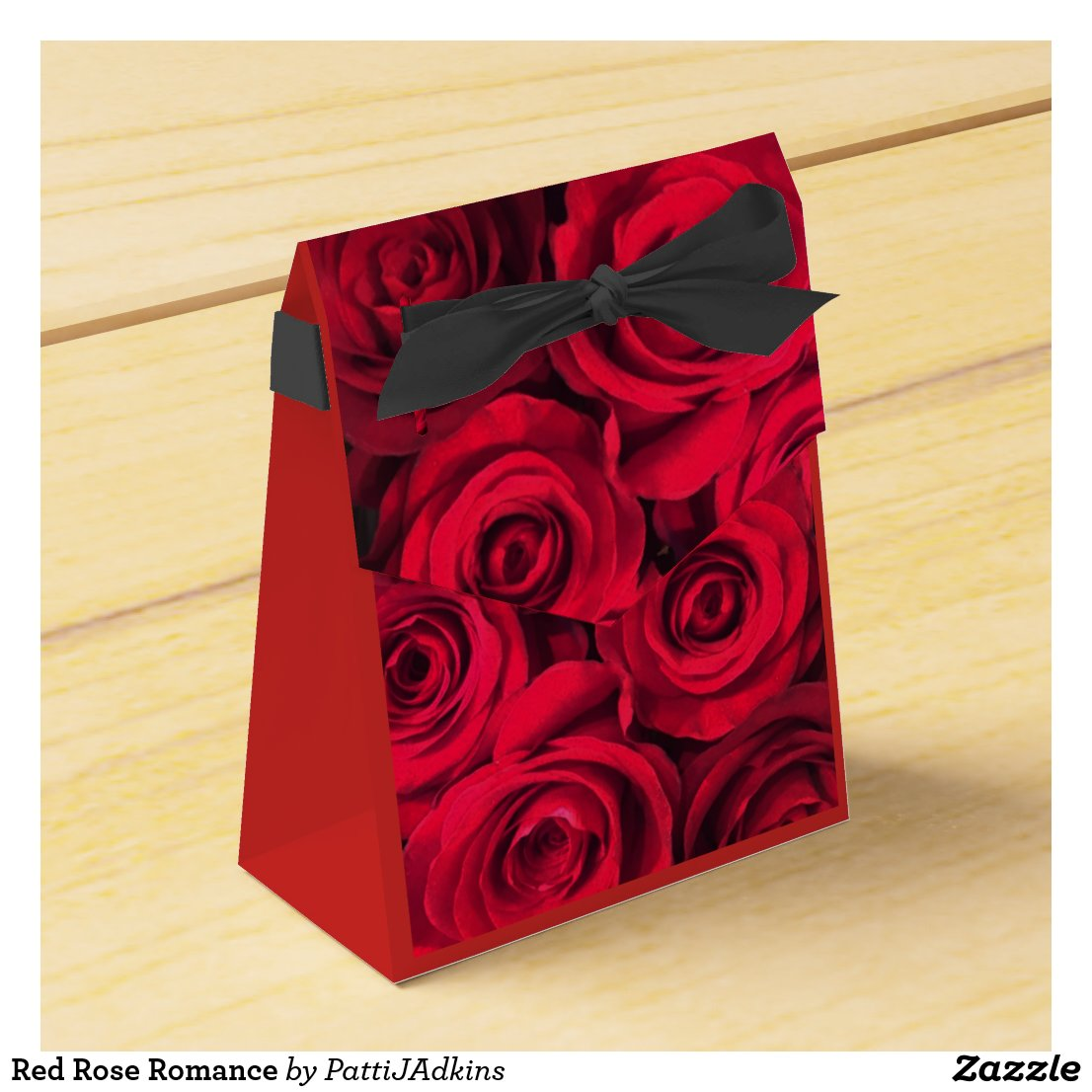 Red Rose Romance Favor Box