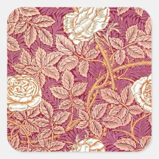 Red Rose Romance Square Sticker