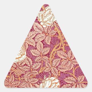 Red Rose Romance Triangle Sticker