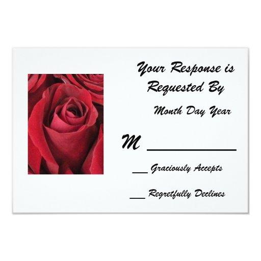 Red Rose RSVP Card