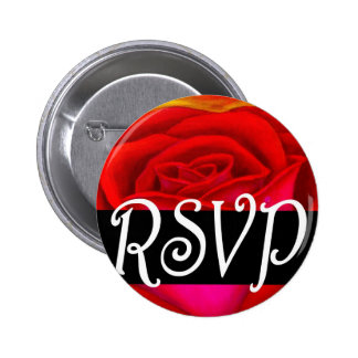 Red Rose RSVP Painting Art - Multi Buttons