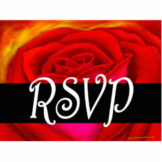 Red Rose RSVP Painting Art - Multi Cutout