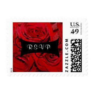 Red Rose RSVP Stamp