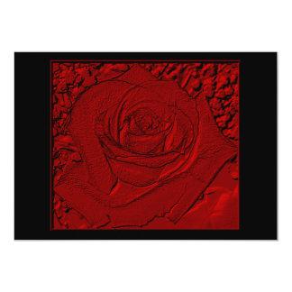 """Red Rose """"Sculpture"""" 5x7 Paper Invitation Card"""