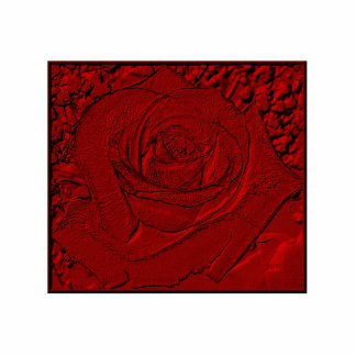 """Red Rose """"Sculpture"""" Acrylic Cut Out"""