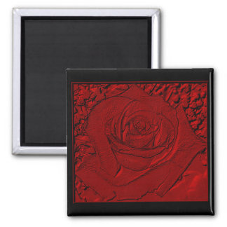 """Red Rose """"Sculpture"""" Fridge Magnets"""