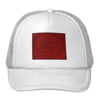 "Red Rose ""Sculpture"" Mesh Hat"