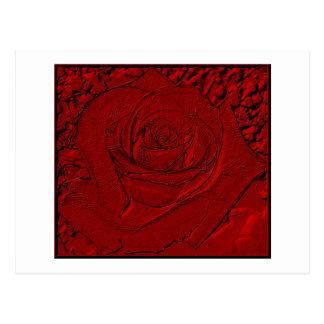 "Red Rose ""Sculpture"" Postcard"