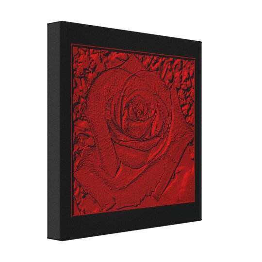 """Red Rose """"Sculpture"""" Wrapped Canvas Print"""