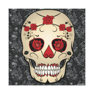 day of the dead wrapped canvas prints | zazzle