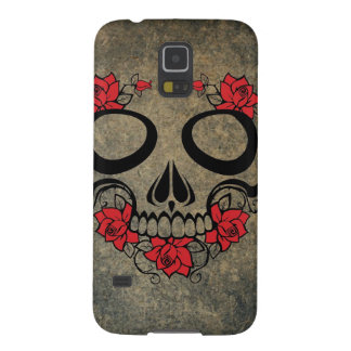 Red Rose Skull Galaxy S5 Cover
