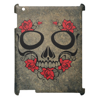 Red Rose Skull iPad Cover