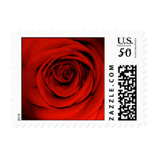 Red rose - small size postage