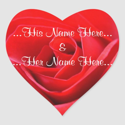 Red Rose Stickers Romantic Rose Wedding Stickers Zazzle