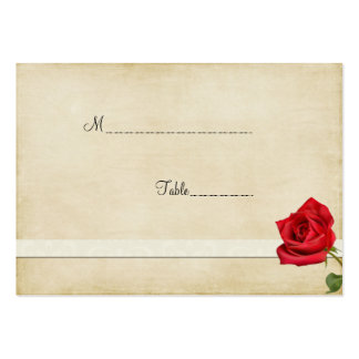 Red Rose Table Place Card Business Card Templates