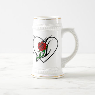 Red Rose Tattoo 18 Oz Beer Stein