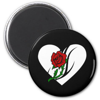 Red Rose Tattoo 2 Inch Round Magnet