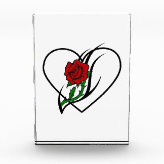 Red Rose Tattoo Acrylic Award