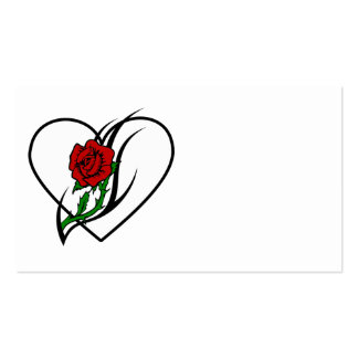 Red Rose Tattoo Business Card