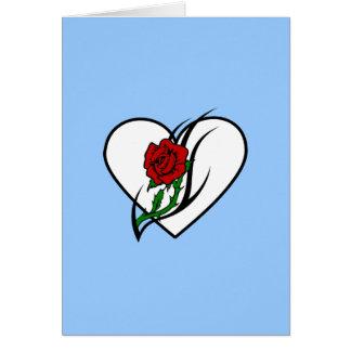 Red Rose Tattoo Card