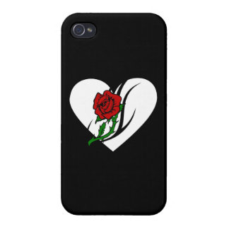 Red Rose Tattoo Cases For iPhone 4