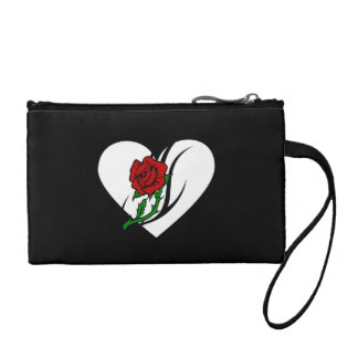 Red Rose Tattoo Coin Purse