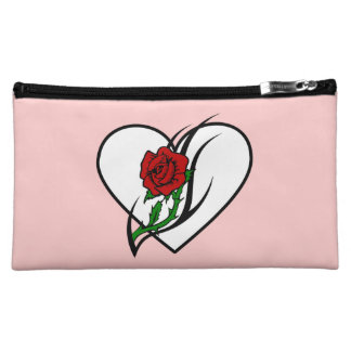 Red Rose Tattoo Cosmetic Bags
