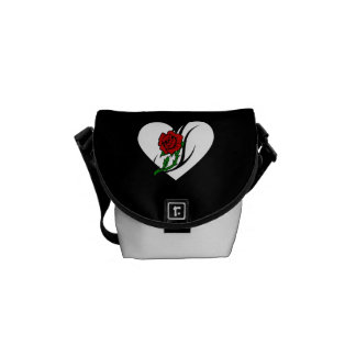 Red Rose Tattoo Courier Bags