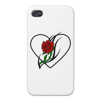 Red Rose Tattoo Covers For iPhone 4