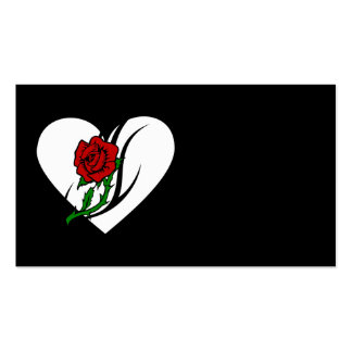 Red Rose Tattoo Double-Sided Standard Business Cards (Pack Of 100)