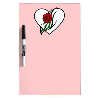 Red Rose Tattoo Dry Erase Board