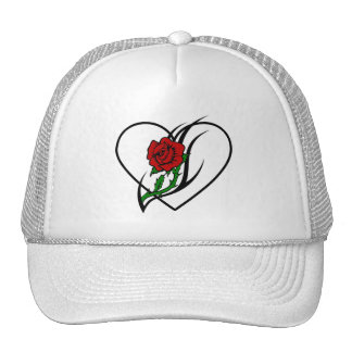 Red Rose Tattoo Hat
