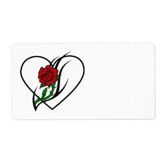 Red Rose Tattoo Label