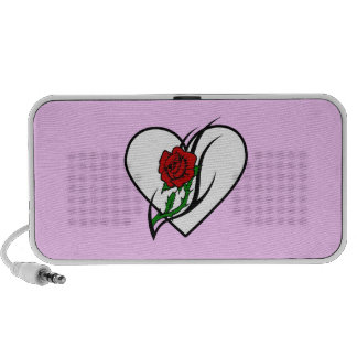 Red Rose Tattoo Laptop Speaker