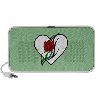 Red Rose Tattoo Laptop Speakers
