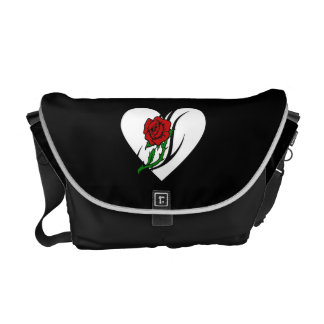 Red Rose Tattoo Messenger Bags