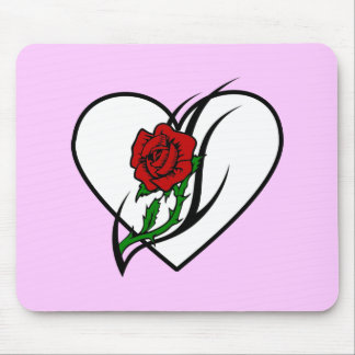 Red Rose Tattoo Mouse Pads