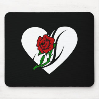 Red Rose Tattoo Mousepads