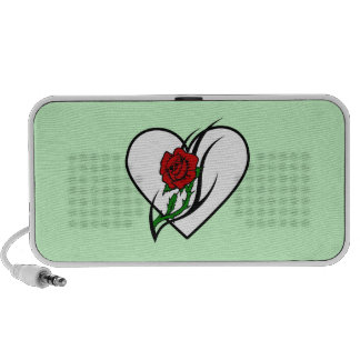 Red Rose Tattoo Portable Speakers
