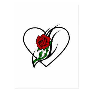 Red Rose Tattoo Post Card