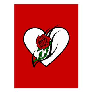 Red Rose Tattoo Postcard