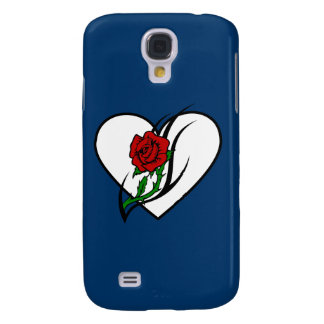 Red Rose Tattoo Samsung Galaxy S4 Cases